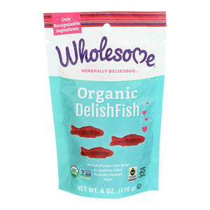 Wholesome Sweeteners Organic DelishFish Candy 6 oz.232724 OC - NutritionalInstitute.com