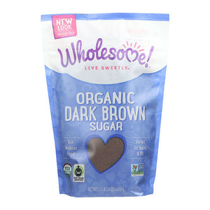 Wholesome Sweeteners Organic Sugar Dark Brown Sugar 24 oz.232714 OC