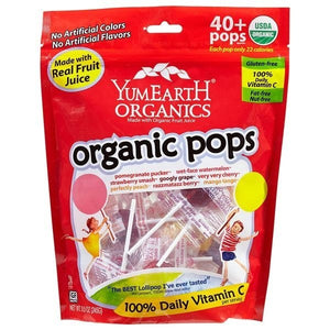 YumEarth Assorted Flavor Organic Lollipops 40 count OC