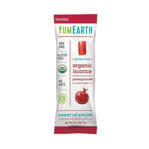 YumEarth Gluten-Free Pomegranate Licorice 2 oz 231959 OC