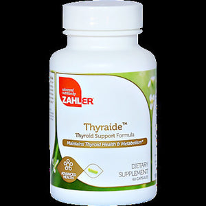 Advanced Nutrition By Zahler Thyraide for Thyroid Health and Metabolism 60 Caps NP