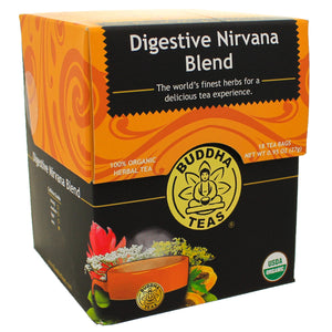 Buddha Teas Digestive Nirvana Blend Bleach, Dioxinfree Biodegradable, 18 Count