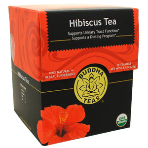 Buddha Teas Hibiscus Tea, Rich In Iron, Manganese, Chromium, Zinc 18 Count