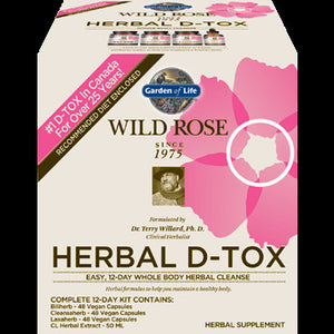 Garden of Life - Wild Rose Herbal D Tox 1 kit 102053 - NutritionalInstitute.com