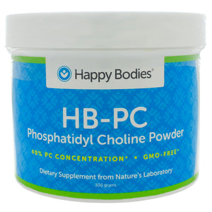 Happy Bodies PC Phosphatidyl Choline 40% GMO-FREE Powder 300g