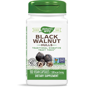 Nature's Way Black Walnut Hulls Traditional Digestive Tract Tonic 100 Capsules