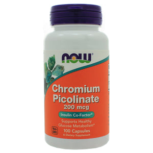 NOW Foods Chromium Picolinate 200mcg 100 Capsules NL0030