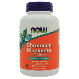 Now Foods Chromium Picolinate 200mcg 250c NL0031