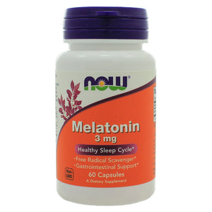 NOW Foods Melatonin 3mg 60 Capsules NL0070