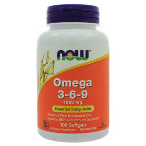 NOW Foods Omega 3-6-9 1000mg 100 Softgels NL0078