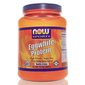 NOW Sports Eggwhite Protein Vanilla Creme