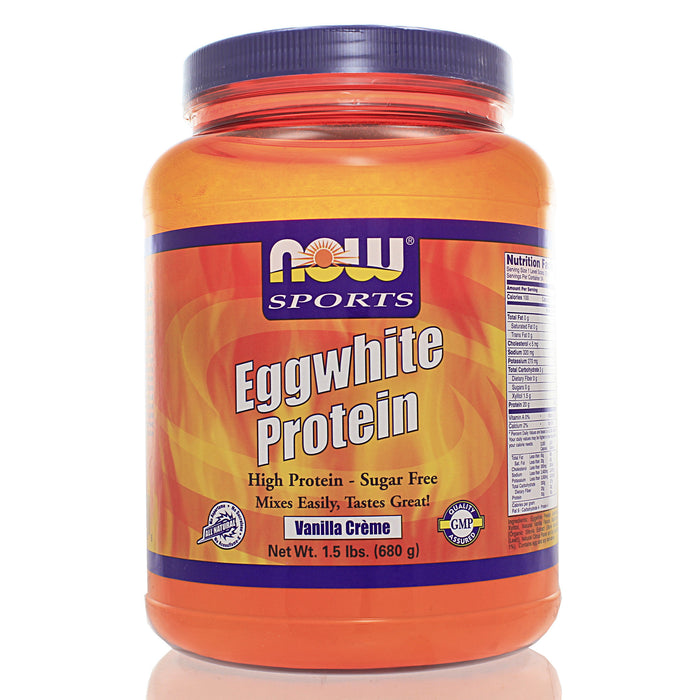 NOW Sports Eggwhite Protein Vanilla Creme NS
