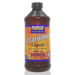 NOW Sports L-Carnitine Liquid Citrus Flavor 1000mg NS