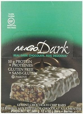 NuGo Nutrition NuGo Dark Mint Choco Chip 12 Bars NG0006 NP