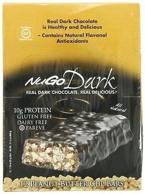 NuGo Nutrition NuGo Dark Peanut Butter Cup 12 Bars NP