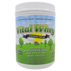 Well Wisdom Proteins Vital Whey Natural Cocoa Flavor 600g 21oz ME