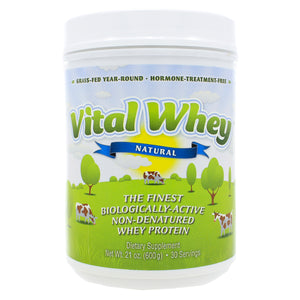 Well Wisdom Proteins Vital Whey Natural Flavor 600g 21oz WW0007 ME