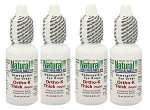 Natural Ophthalmics Ortho K Thick Night Eye Drops 0.5 Oz 4 Pk Exp.12.19+7.20 IHI