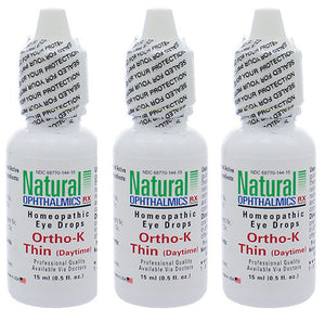 Natural Ophthalmics Ortho K Thin Daytime Dry Eye Drops 0.5 Oz 3 Pk Exp.8.20 IHI