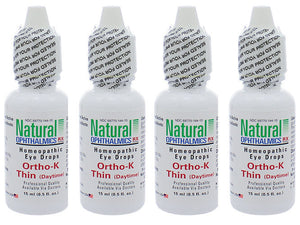 Natural Ophthalmics Ortho K Thin Daytime Dry Eye Drops 0.5 Oz, 4 Pk Exp.8.20 IHI