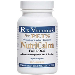 Rx Vitamins for Pets NutriCalm for Dogs Help Stress, 50 Capsules Exp.8.20 IHI