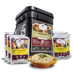 Wise Company 60 Serving Entree Only Grab and Go Bucket Kit IHI