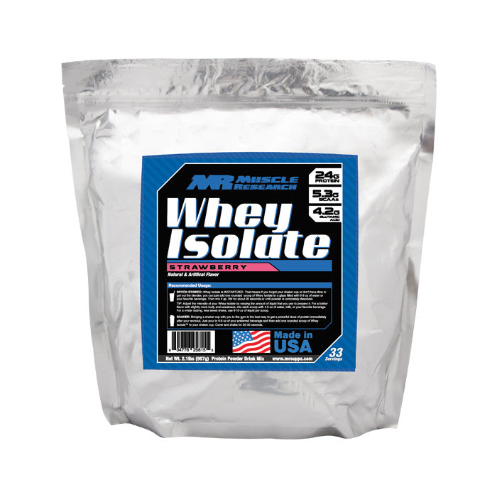 Muscle Research Whey Isolate Strawberry 33 Servings 945-72875 MLX