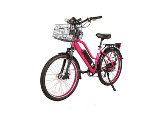 X-Treme Catalina 48V Electric Step Through Beach Cruiser Bicycle Pink CATALINA48