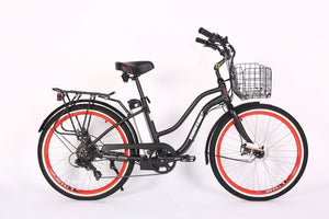 Xtreme Scooters Malibu Beach Elite Beach Cruiser Electric Bike Black