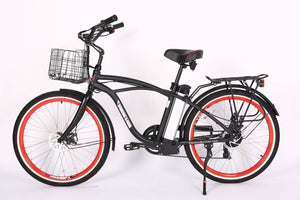 Xtreme Scooters Newport Beach Elite Cruiser Electric Bike Black NEWPORTEBLA