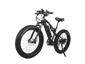Xtreme Scooters Rocky Road Fat Tire 48V Electric Mountain Bicycle Black