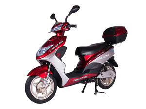 Xtreme Scooters XB-504 Electric Bicycle Moped Burgundy XB504BUR