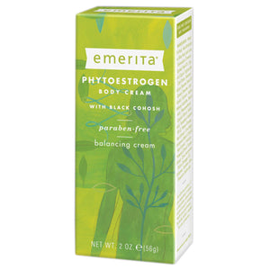 Emerita Menopause Solution Phytoestrogen Body Cream with Dong Quai, Licorice & Black Cohosh 2 Oz 208592 OC