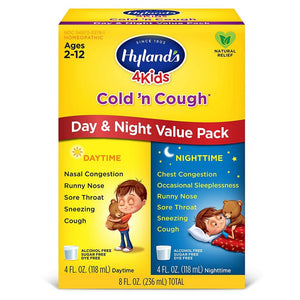 Hyland's 4 Kids Cough & Cold Day & Night, Grape 8 Fl Oz 234833 OC