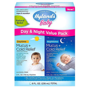 Hyland's Baby Mucus Plus Cold Relief Day & Night Value Pack 8 Fl Oz 234832 OC