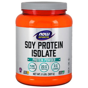 NOW Soy Protein Isolate Unflavored 2 lbs 2152 - NutritionalInstitute.com