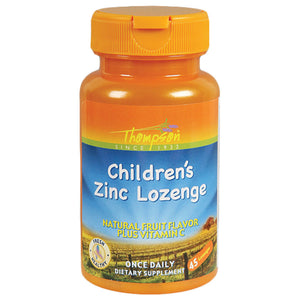 Thompson Minerals Zinc Children's Lozenge with Vitamin C, Fruit Flavored 45 Count 215628 OC