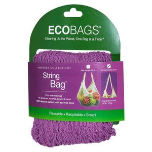 ECOBAGS String Bags Raspberry Natural Cotton & Eco-Friendly Dyes 226588 OC