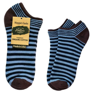 Maggie's Functional Organics Footie Socks Navy/Blue Cushion Size 9-11 228380 OC