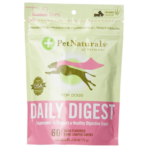 Pet Naturals For Dogs Daily Digest 60 Count 225648 OC