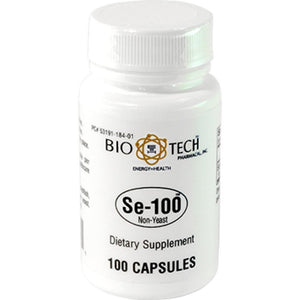 Bio-Tech Se100 Non Yeast Support And Promote Optimal Health And Wellbeing 100 Capsules ME