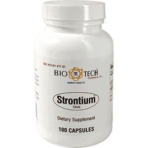 Bio-Tech Strontium Citrate Help Maintain Healthy Bones 100 Capsules
