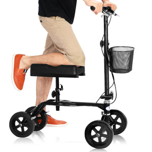 Steerable Foldable Turning Brake Knee Walker Scooter SP34937 WC