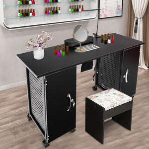 Deluxe Salon Steel Frame Manicure Table HB84910 WC