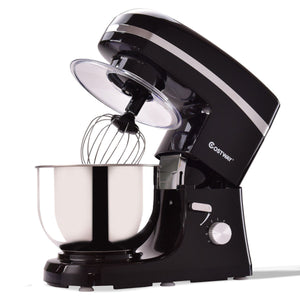 800 W 5.3 Quart Electric Food Stand Mixer with Stainless Steel Bowl HW56217 WC