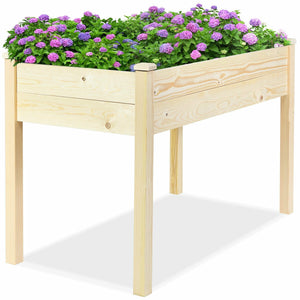 Wooden Raised Vegetable Garden Bed Elevated Grow Vegetable Planter GT3422 WC