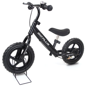 "12"" Four Colors Kids Balance Bike Scooter with Brakes and Bell TY571746 WC - NutritionalInstitute.com"