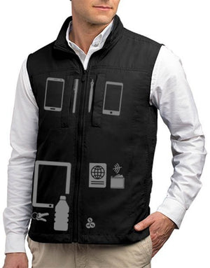 Scottevest Featherweight Men Lightweight Vest Travel Utility Vest Black Large - NutritionalInstitute.com