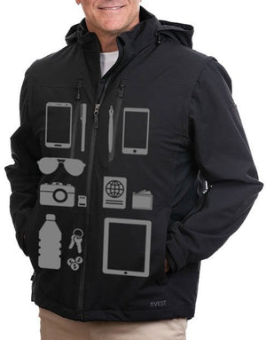 Scottevest Revolution 2.0 Plus Winter Jacket 26 Pocket for Men Black XXLarge - NutritionalInstitute.com