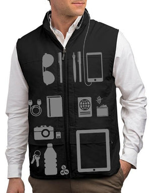 Scottevest Quest Mens Travel Vest Work Photography Vest 42 Pockets Black Large - NutritionalInstitute.com